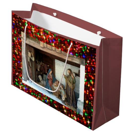 Baby Jesus, Mary and Joseph Nativity Large Gift Bag