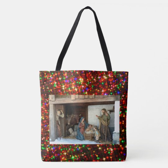 Baby Jesus, Mary and Joseph Nativity Tote Bag