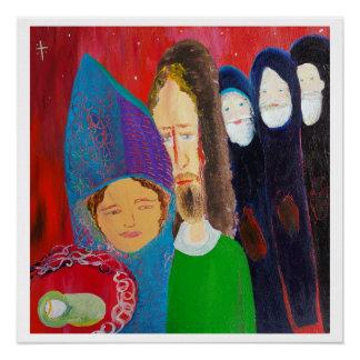 Baby Jesus, Mary, Joseph & 3 Wisemen 24x24 poster