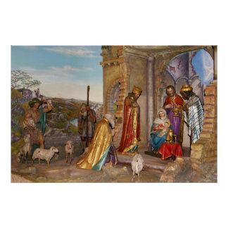 Baby Jesus of Nazareth in the Bethlehem Manger Poster