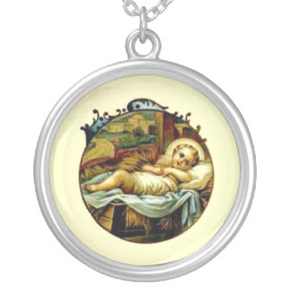 Baby Jesus Sterling Silver Necklace Pendent