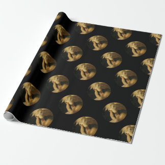 Baby Jesus Touching Lamb Face Wrapping Paper
