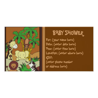 Baby Jungle 10 Baby Shower Personalized Photo Card