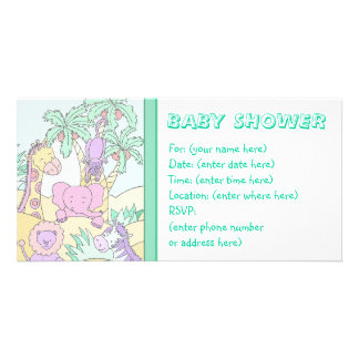 Baby Jungle 13 Baby Shower Photo Greeting Card