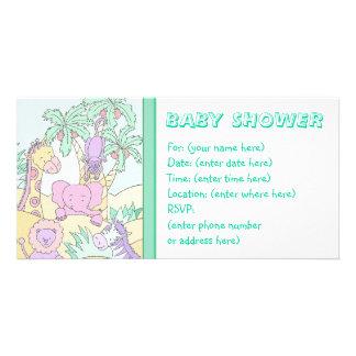 Baby Jungle 13 Baby Shower Photo Card