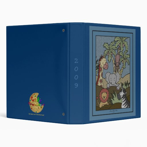 Baby Jungle 16 3 Ring Binders