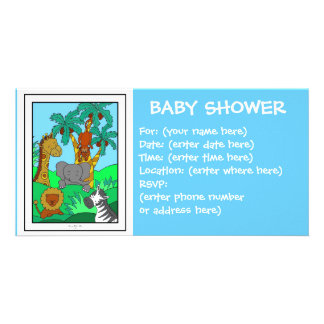 Baby Jungle 1 Baby Shower Photo Cards