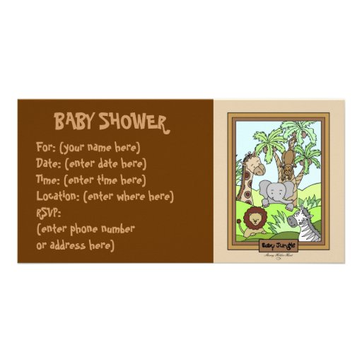 Baby Jungle 20 Baby Shower Personalized Photo Card