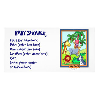 Baby Jungle 28 Baby Shower Photo Card