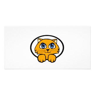 Baby Kitten Cartoon Custom Photo Card