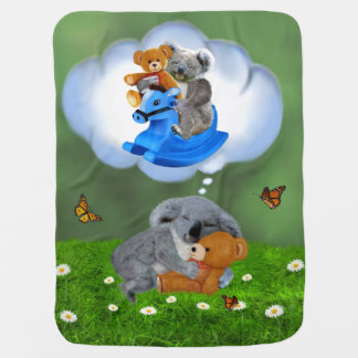 BABY KOALA BEAR DREAMS BABY BLANKET