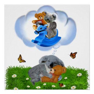 BABY KOALA BEAR DREAMS POSTER