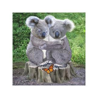 Baby Koala Bear Huggies Canvas Print