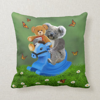BABY KOALA BEAR ROCKS THROW PILLOW