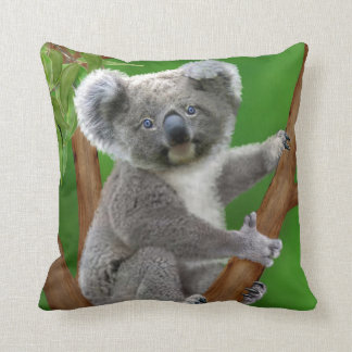 BABY KOALA HUGGIES THROW PILLOW