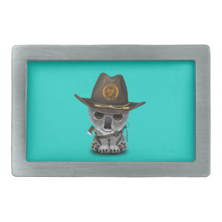 Baby Koala Zombie Hunter Belt Buckle