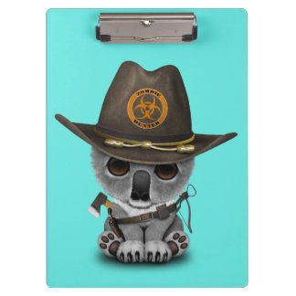 Baby Koala Zombie Hunter Clipboard