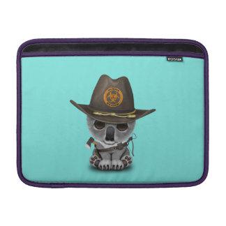 Baby Koala Zombie Hunter MacBook Sleeve