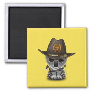 Baby Koala Zombie Hunter Magnet
