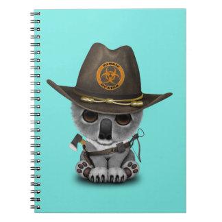 Baby Koala Zombie Hunter Notebook