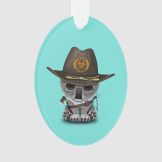 Baby Koala Zombie Hunter Ornament