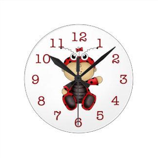Baby Ladybug-Kid's Wall Clock