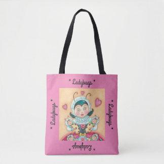 """Baby Ladybug Mom """"LADYBUGS"""" TOTE BAG *Customize"""