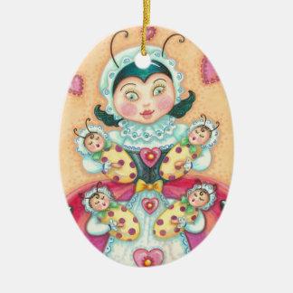 Baby Ladybugs MOM CHRISTMAS ORNAMENT Customize