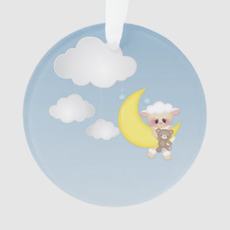 Baby Lamb, Moon and Clouds
