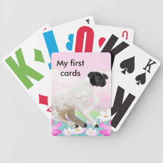 Baby Lambs first steps Poker Deck