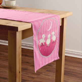 Baby Lambs Short Table Runner