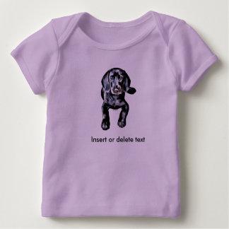 Baby lap shirt black lab puppy