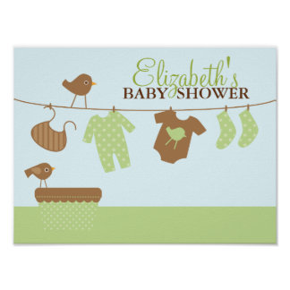 Baby Laundry Baby Shower Welcome Sign