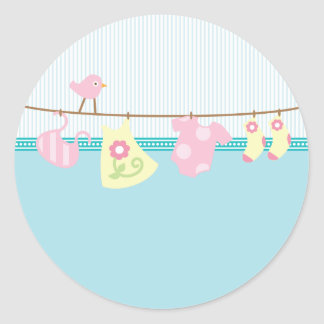 Baby Laundry It's A Girl Sticker