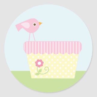 Baby Laundry (pink) Classic Round Sticker