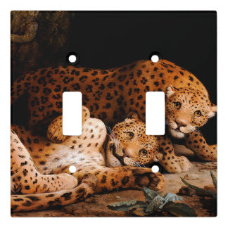 Baby Leopard Cubs Animals Light Switch Cover