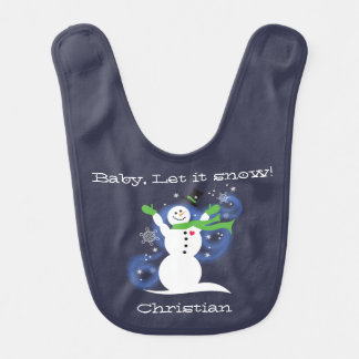 Baby, Let it snow Bib