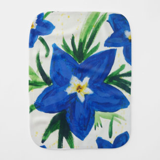 Baby Lily Flower Burp Cloth