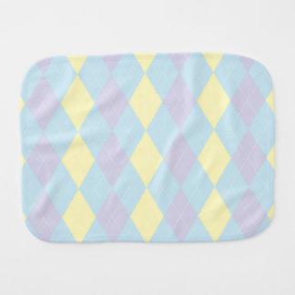 Baby Linen Argyle Burper Burp Cloth
