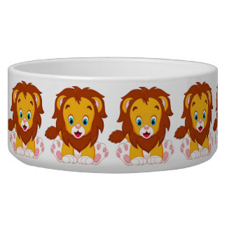 Baby lion dog Large Pet Bowl