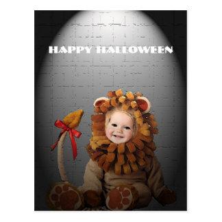 Baby Lion Halloween Postcard