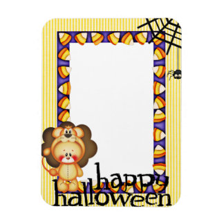 Baby Lion Happy Halloween Frame Magnet