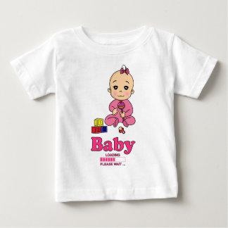 Baby Loading Please WAIT pregnancy birth Baby T-Shirt