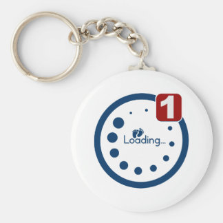 Baby Loading Plus Notification Keychain