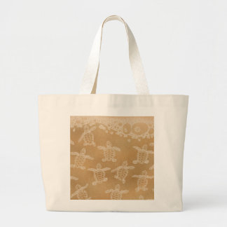 Baby loggerhead turtles large tote bag