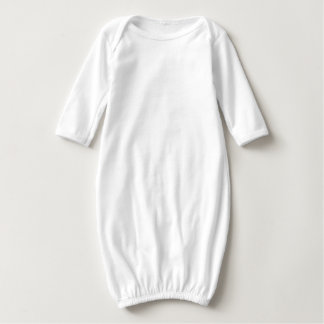 Baby Long Sleeve Gown l ll lll Text Quote T-shirt