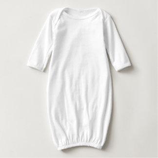 Baby Long Sleeve Gown q qq qqq Text Quote Tshirts