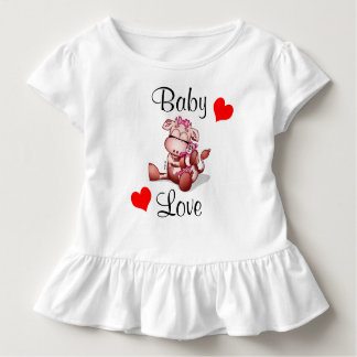 Baby Love - Baby Cow Holding a Teddy Bear Toddler T-shirt