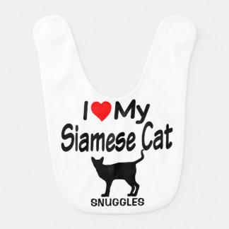 Baby Loves a Siamese Cat Bib