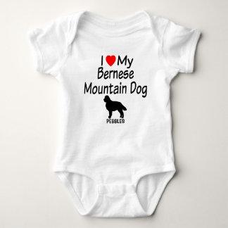 Baby Loves Bernese Mountain Dog Baby Bodysuit
